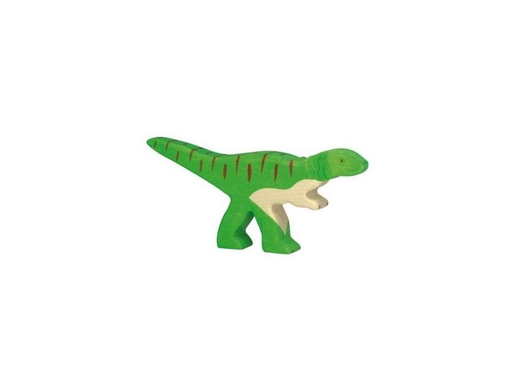 Allosaurus – dřevěná vyřezávaná hračka