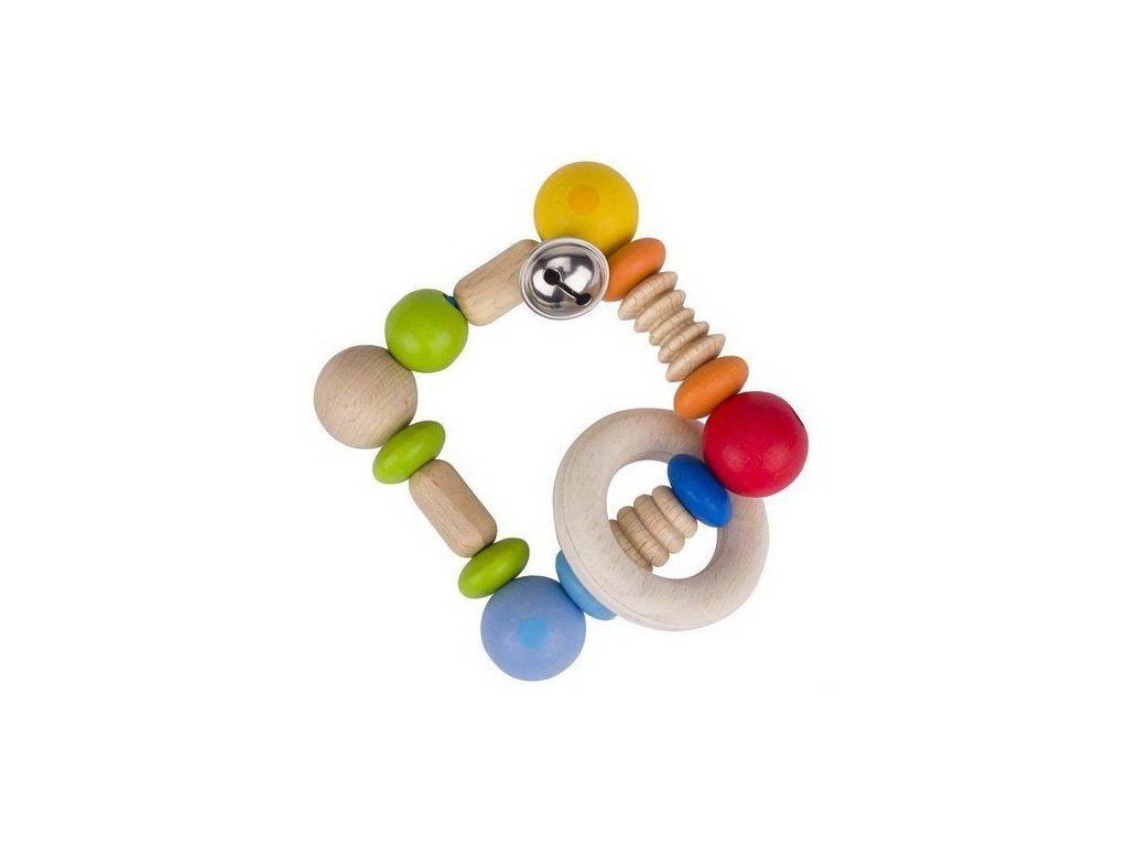 Duha čtverec – elastická hračka pro miminka