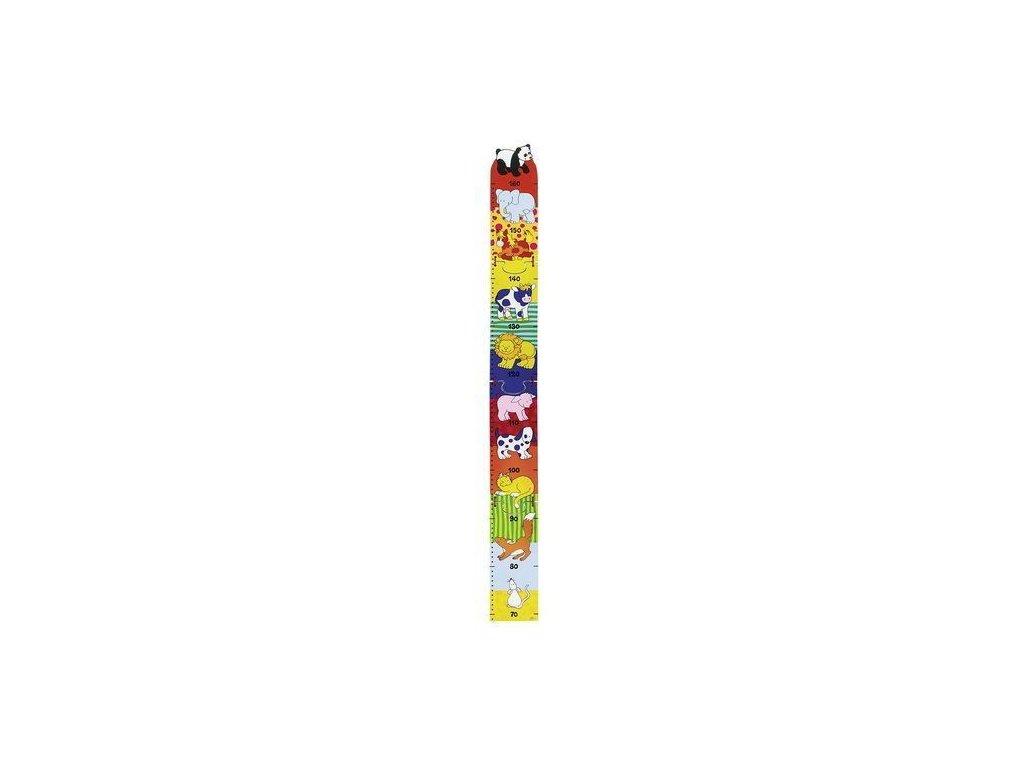 Dětský dřevěný metr – zvířátka, 100 cm