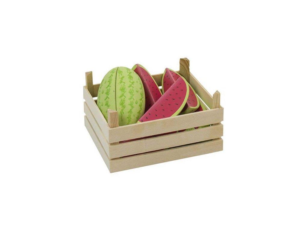 Melouny v dřevěné přepravce, 12 ks