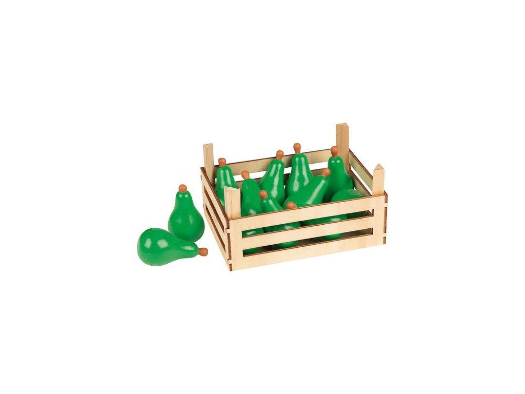 Hrušky v dřevěné přepravce, 10 ks