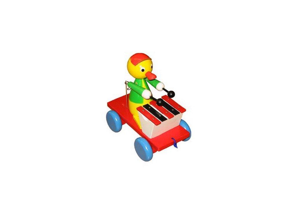 Tahací káčátko s xylofonem - barevné