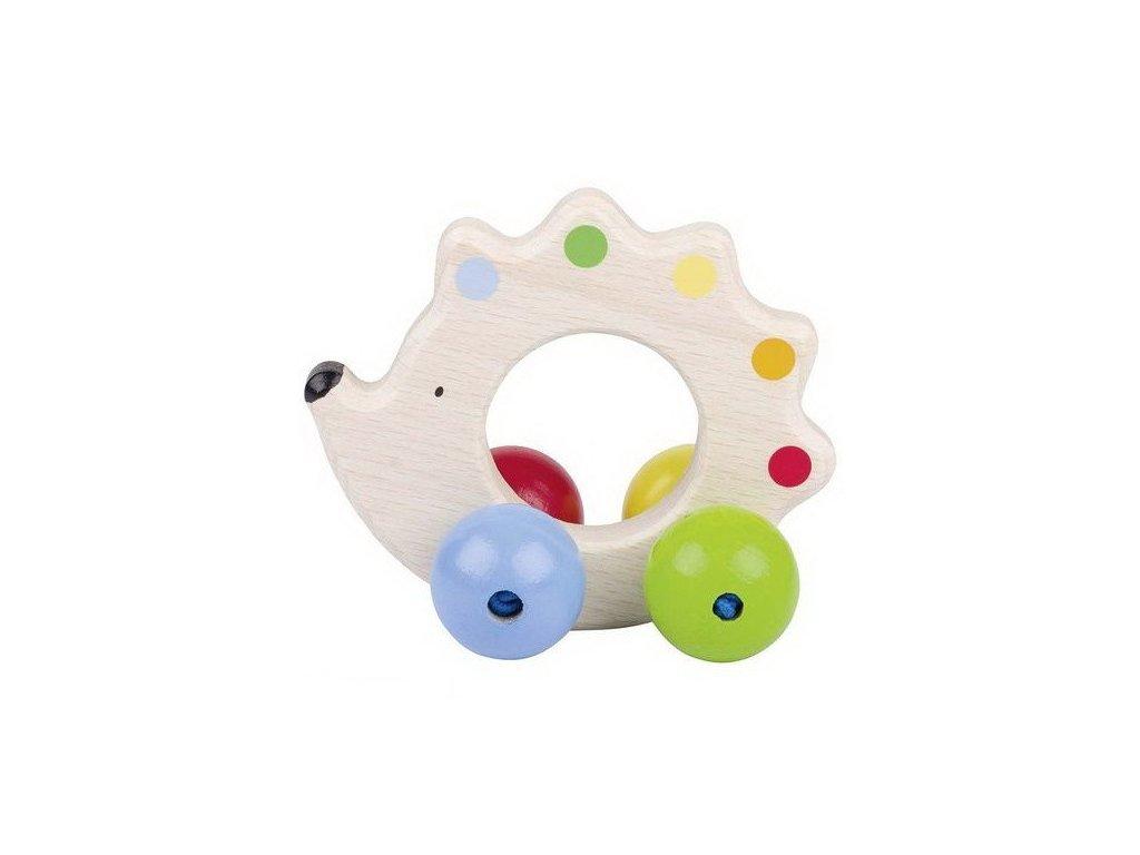 Ježek – dřevěná hračka do ruky pro miminka