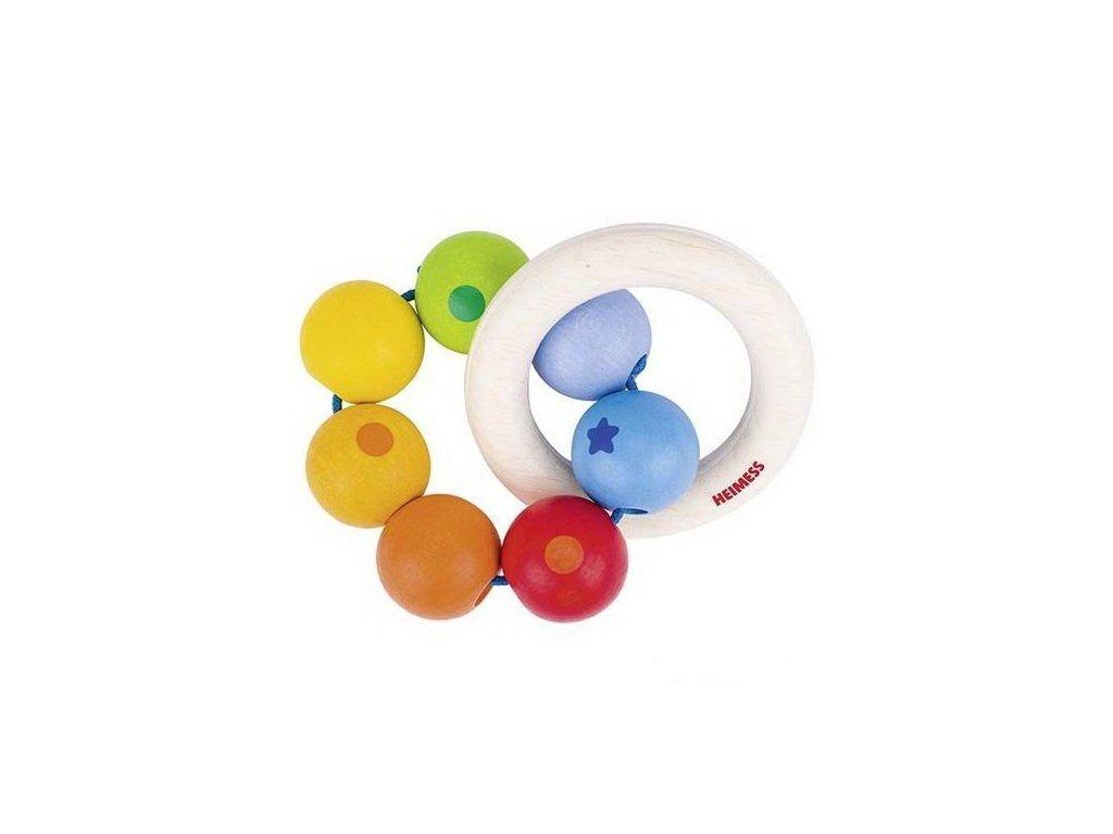 Duha dva kruhy – dřevěná hračka pro miminka