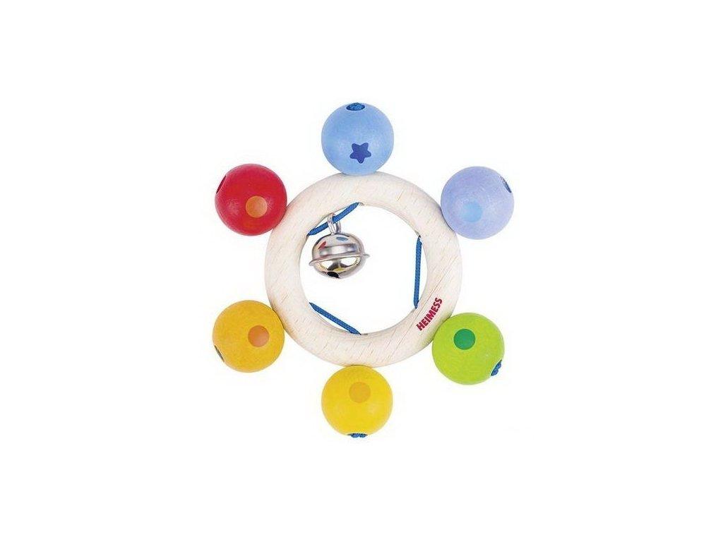 Duhové perličky – dřevěná hračka pro miminka