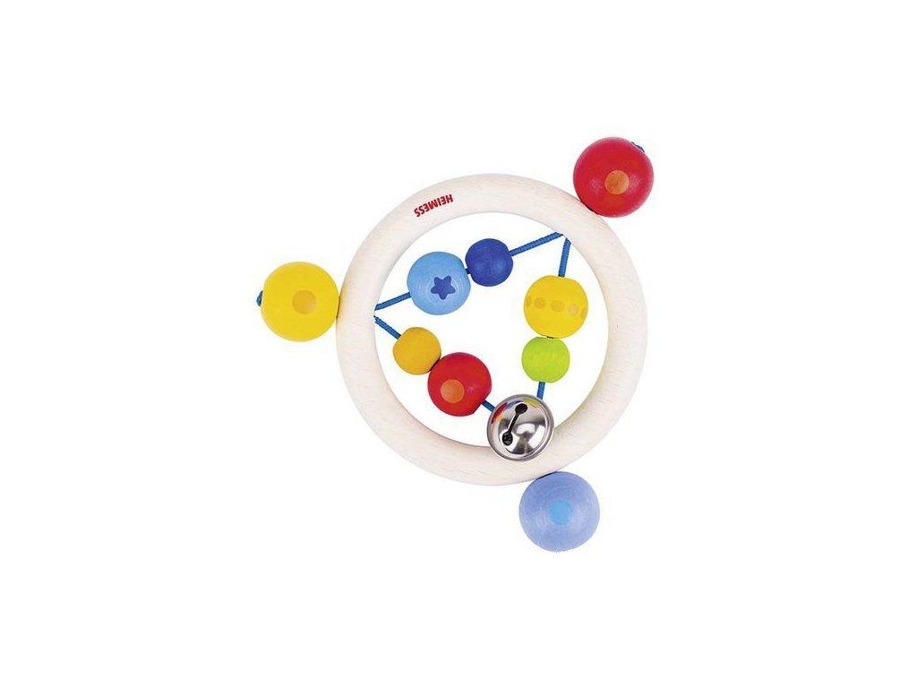 Duha kroužek – dřevěná hračka pro miminka