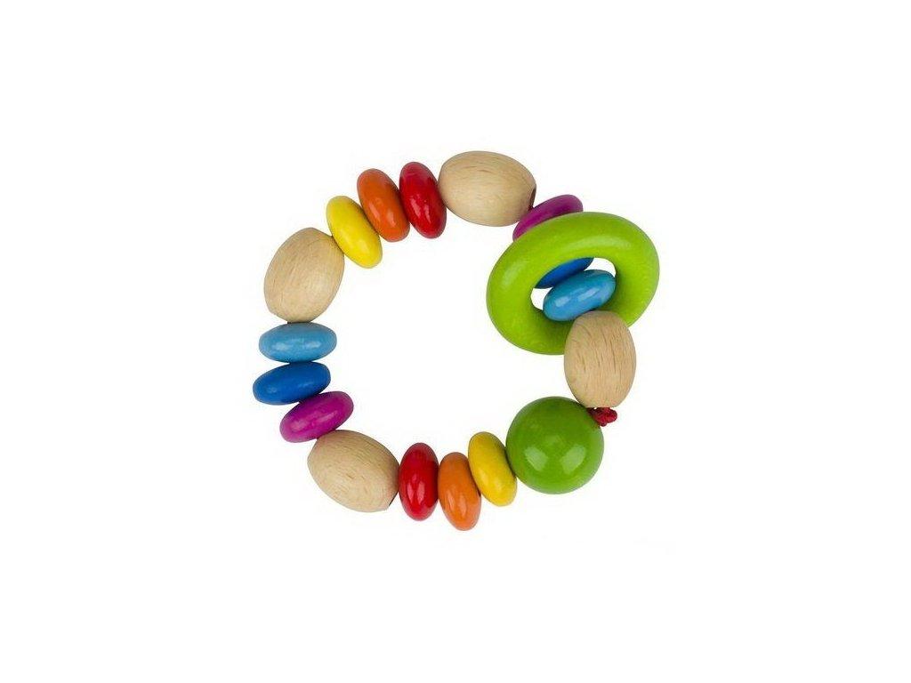 Duhové perličky – hračka do ruky pro miminka
