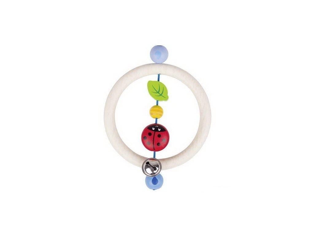 Beruška kroužek – dřevěná hračka pro miminka