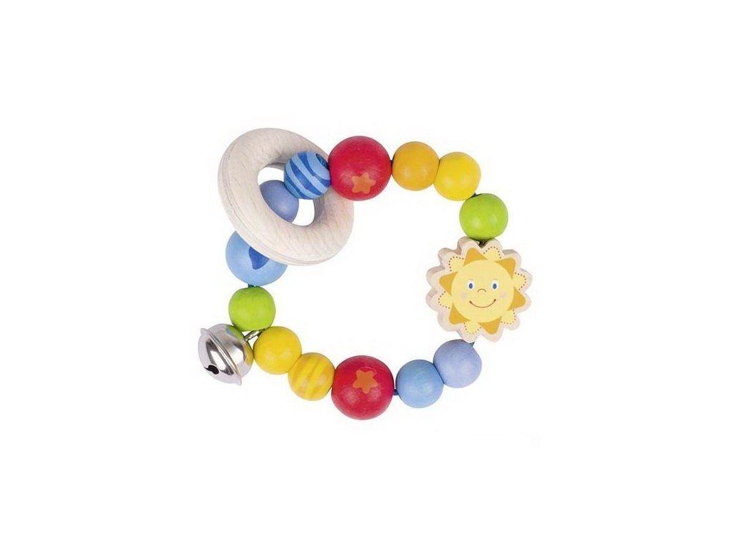 Sluníčko – elastická hračka pro miminka ze dřeva