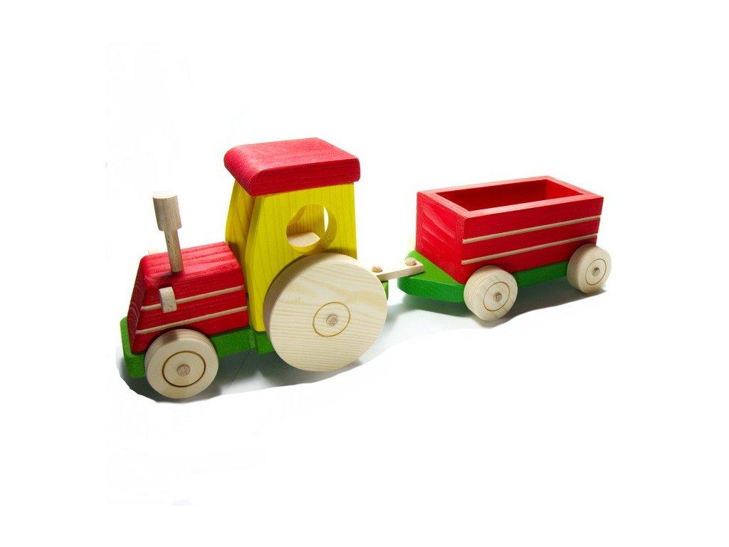 Traktor s valníkem - barevný