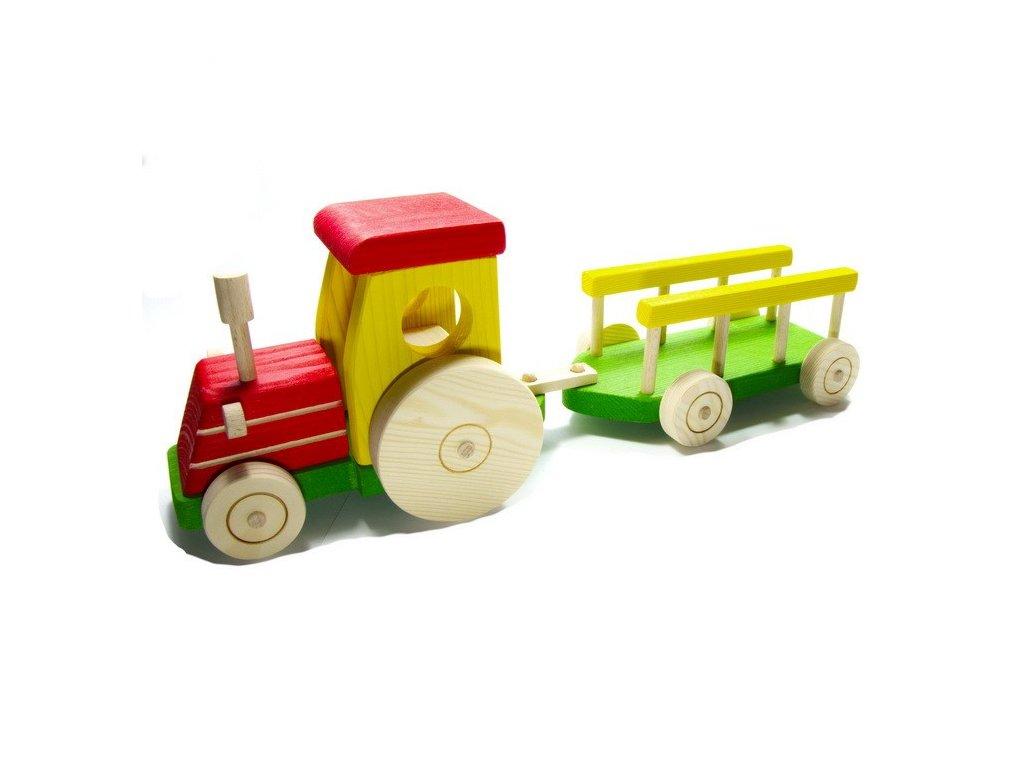 Traktor s žebřiňákem - barevný