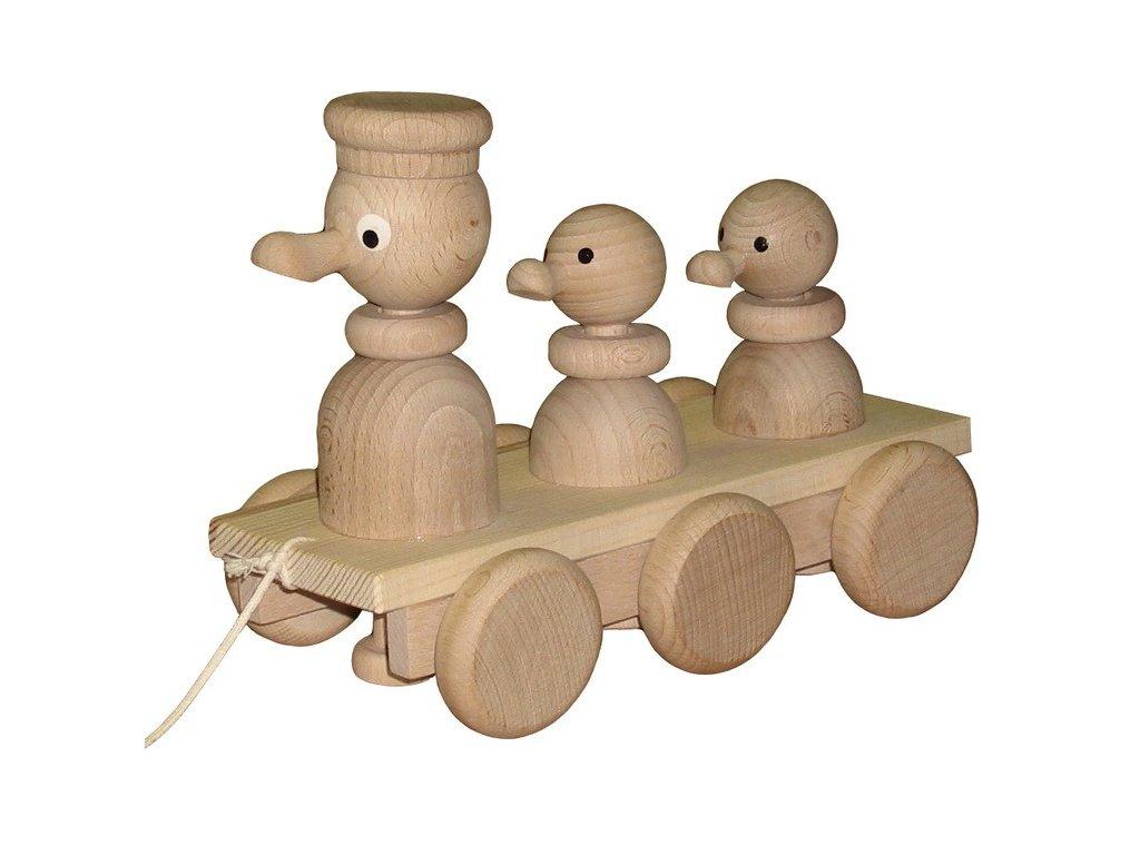 Tři kačenky s čepicí přírodní