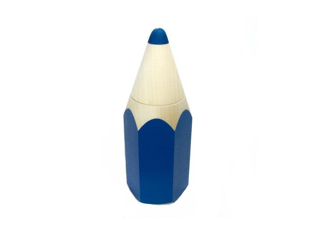 Schránka na tužky malá - modrá