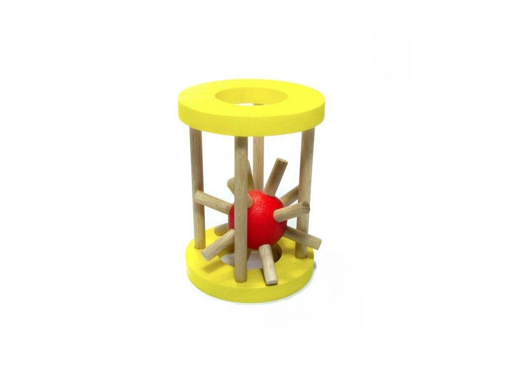 Ježek v kleci - malý žlutý