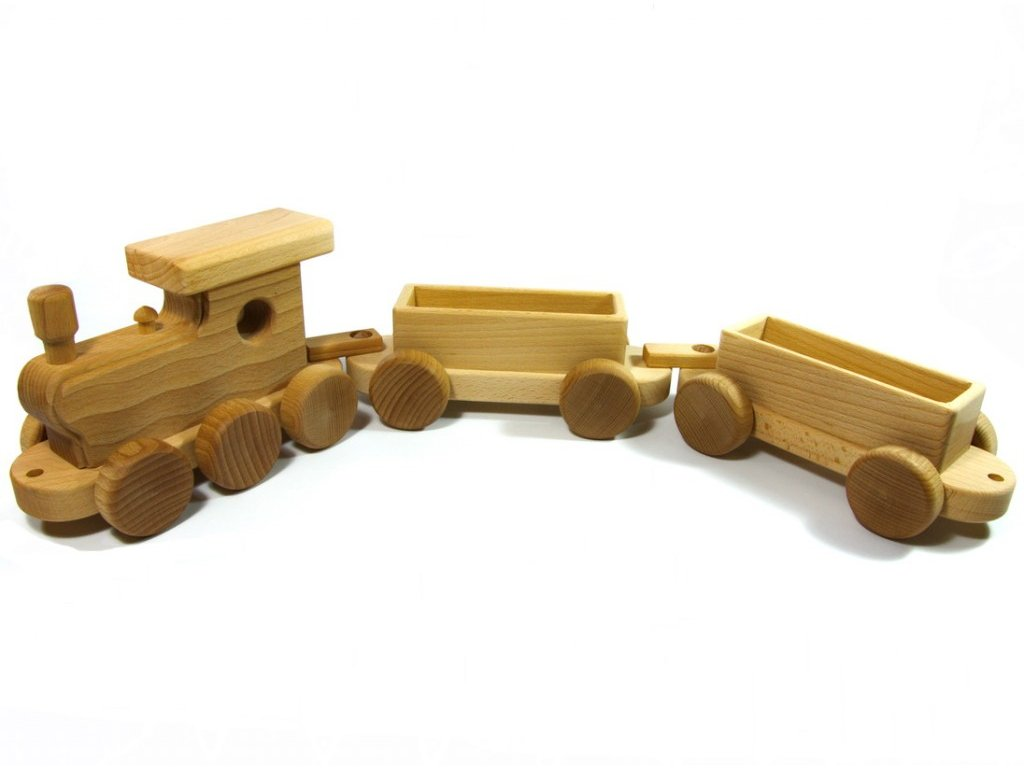 Velký vlak přírodní s 2 vagony