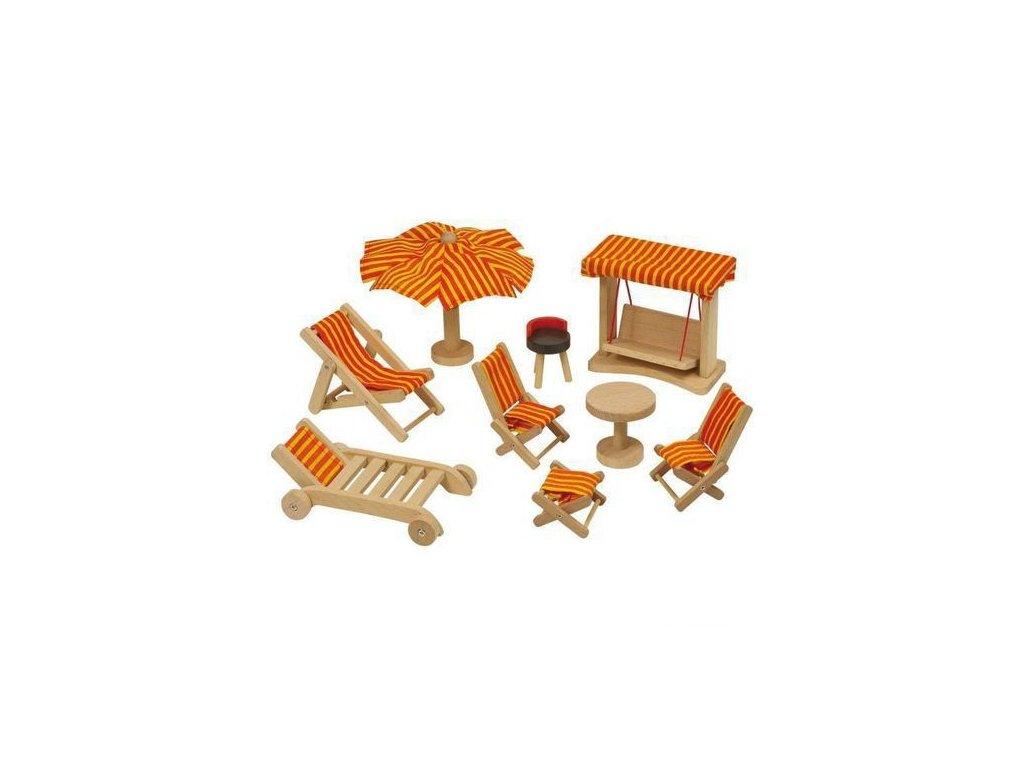 Nábytek pro panenky – zahradní nábytek, 9 dílů