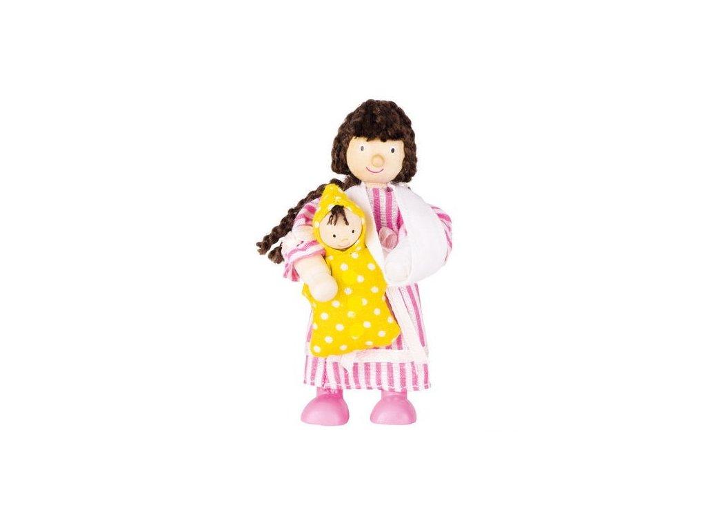 Panenka do domečku nemocnice – pacientka holčička a panenka