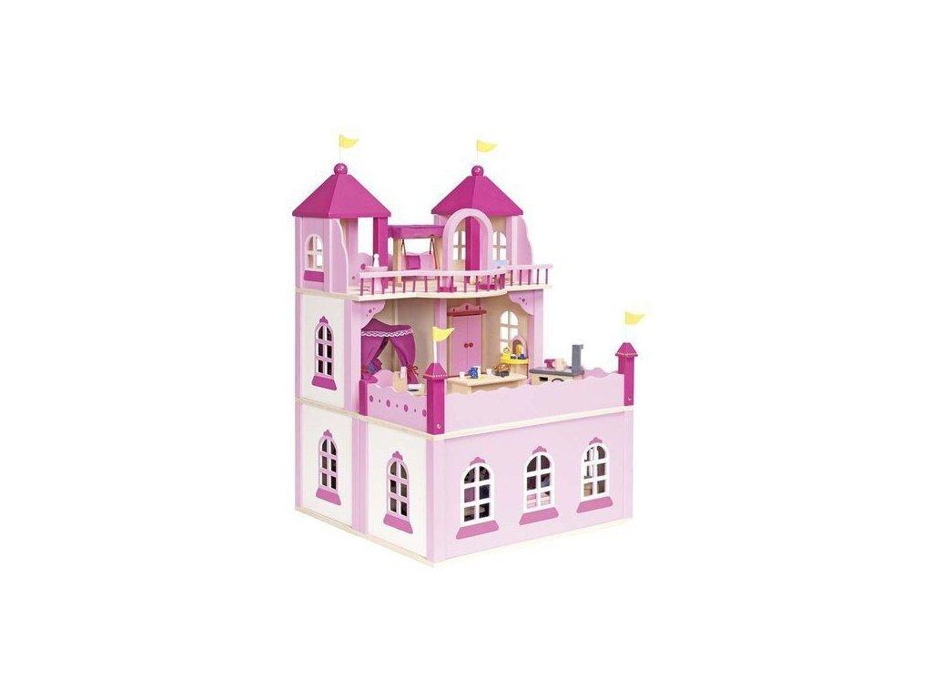 Růžový zámek – domeček pro panenky