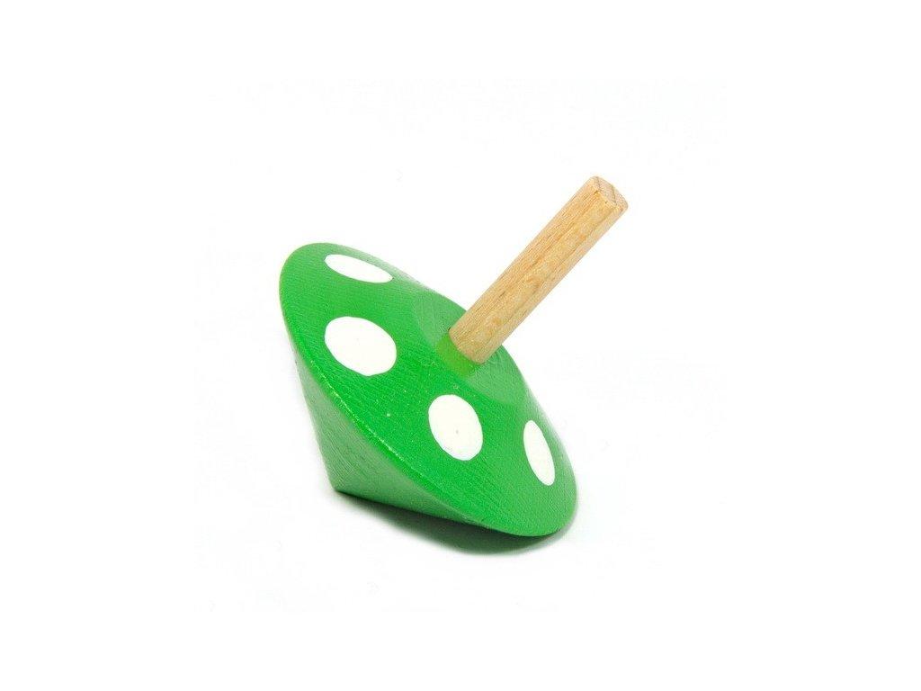 Káča zelená s puntíky