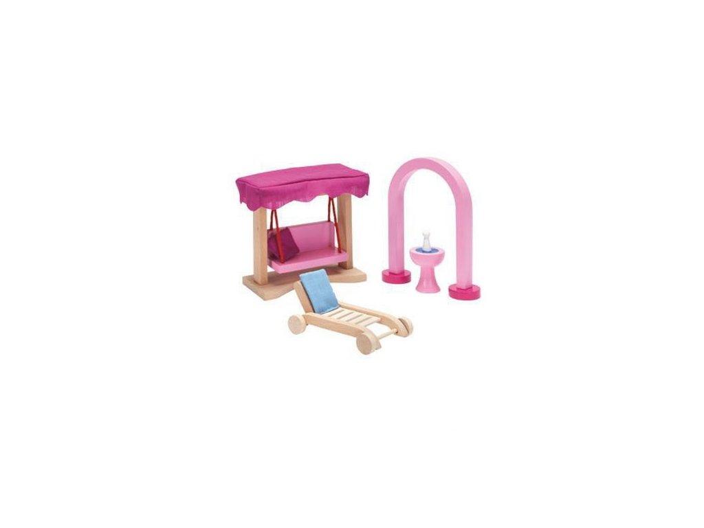 Zámek – nábytek pro panenky zahradní nábytek, 6 dílů