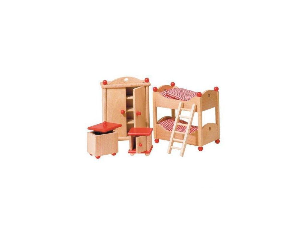 Nábytek pro panenky – dětský pokoj STYLOVÝ