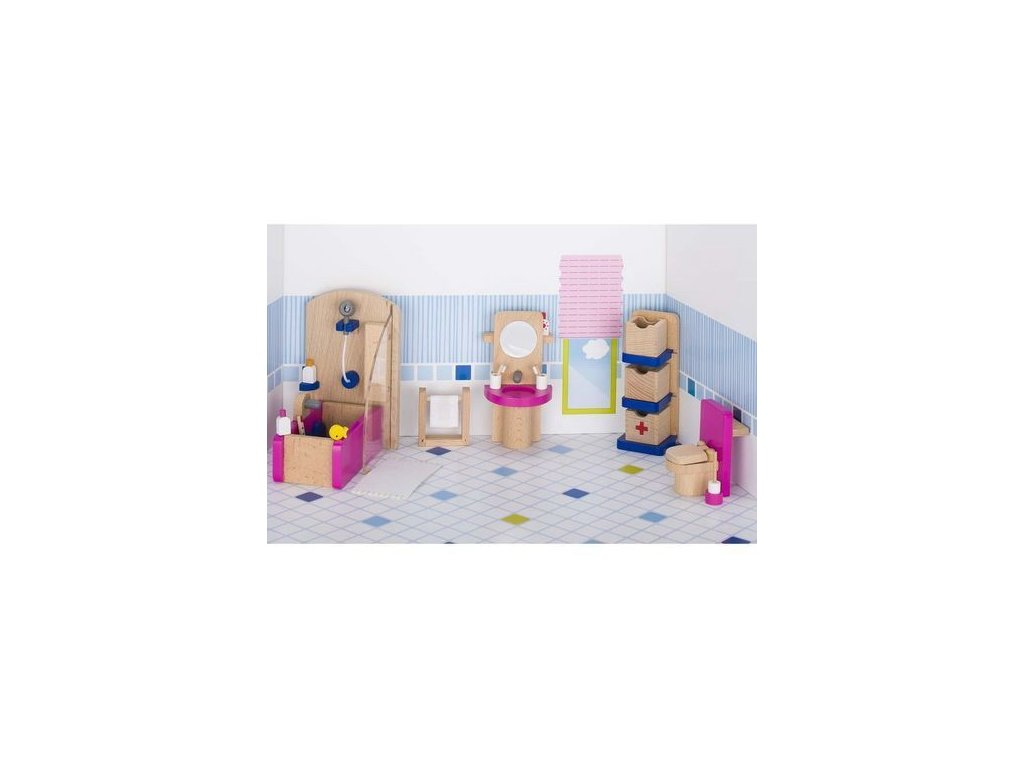 Nábytek pro panenky – koupelna TREND