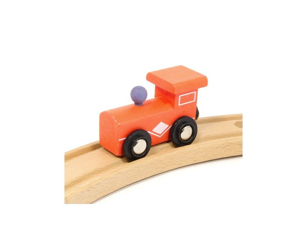 Lokomotiva oranžová - magnetická