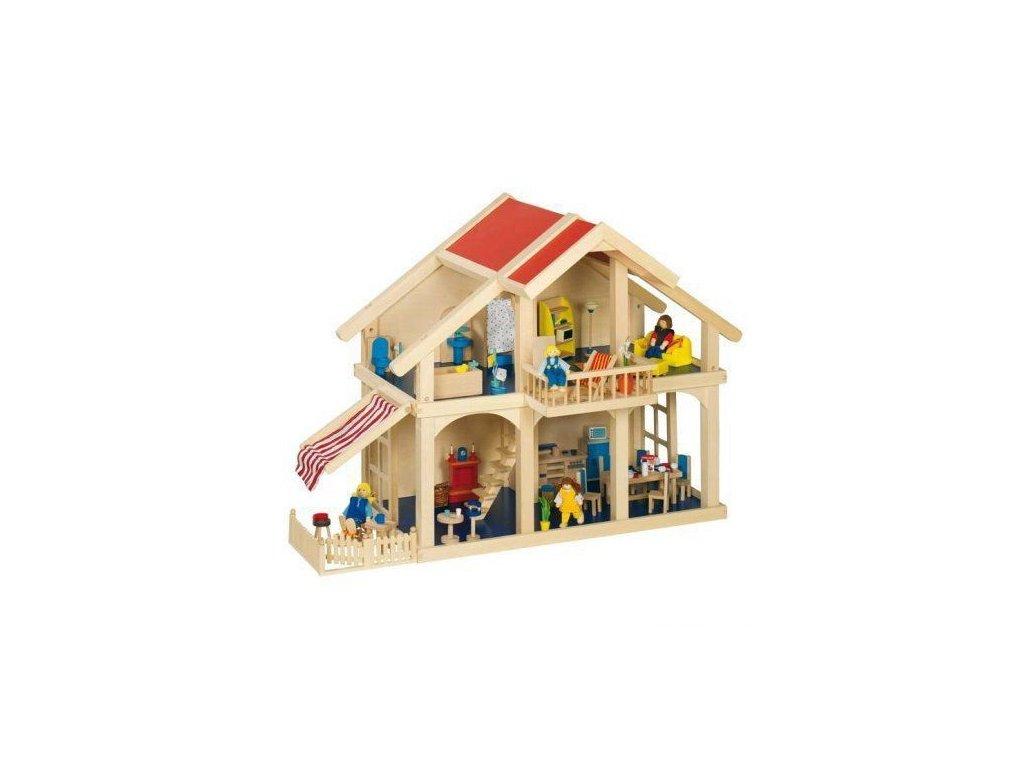 Domeček pro panenky s verandou