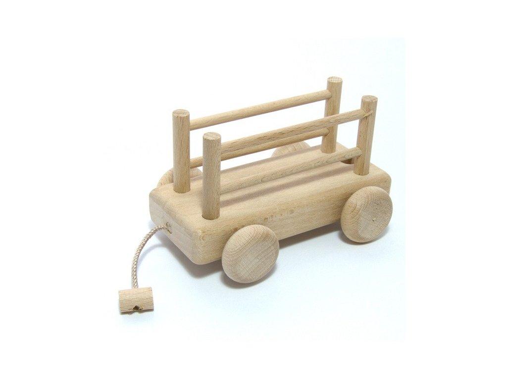 Dřevěný vagon Honzík - s ohrádkou
