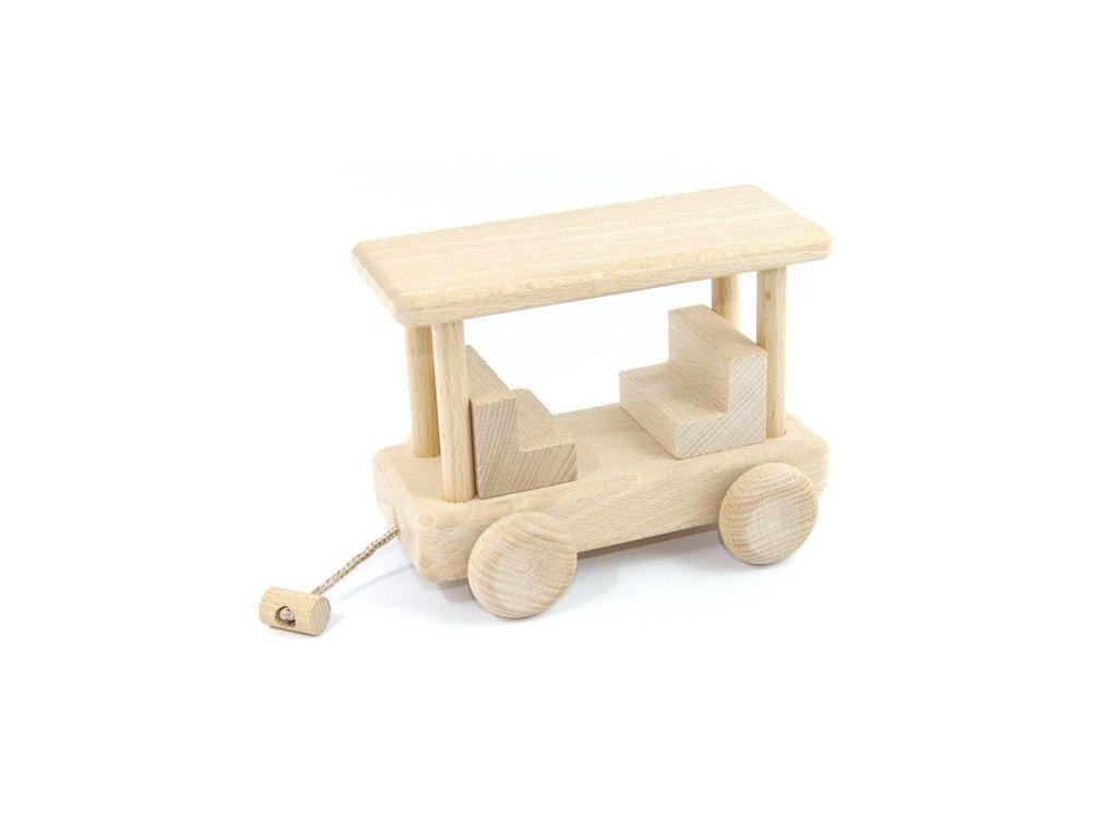 Dřevěný vagon Honzík - se stříškou