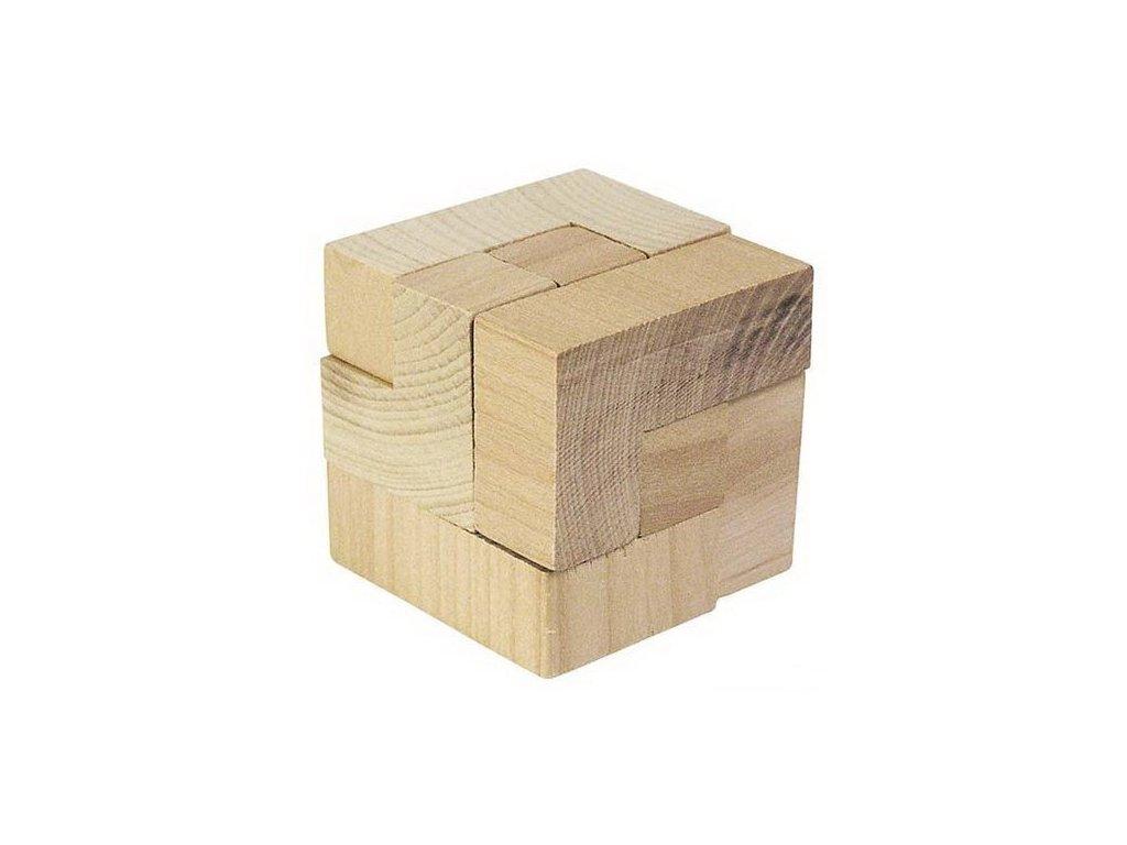 Dřevěný hlavolam – Kostka 3D