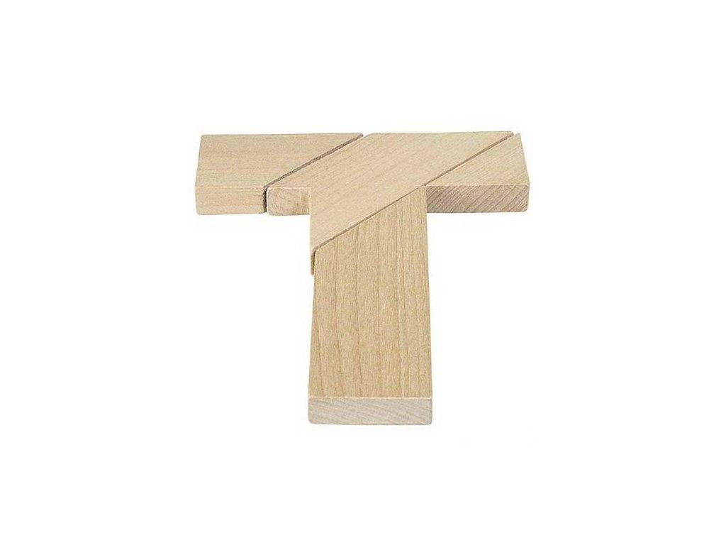 Dřevěný hlavolam – Písmeno T