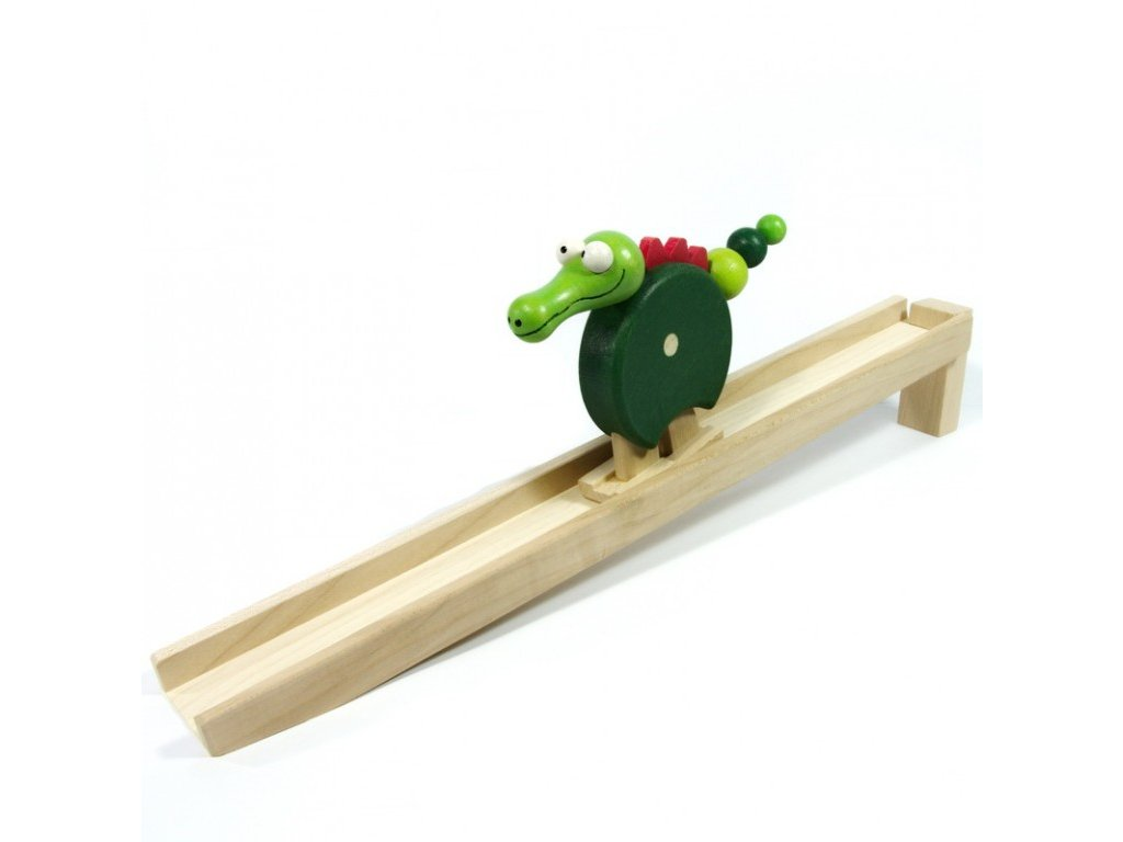 Chodící krokodýl barevný