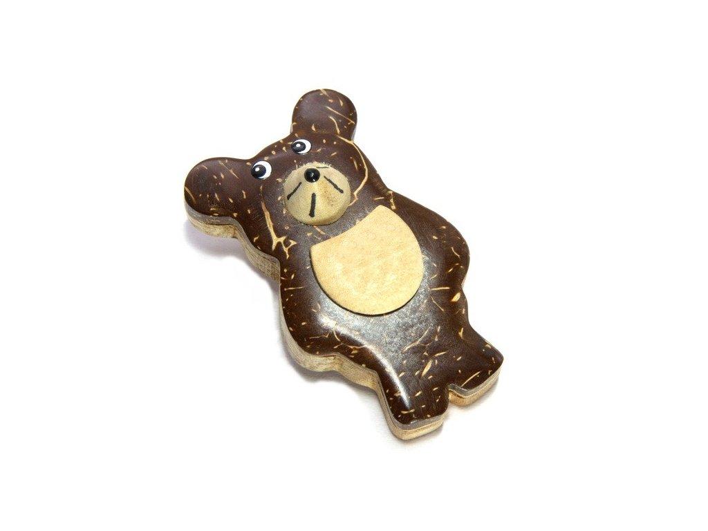 Myš - magnetka kokosové dřevo
