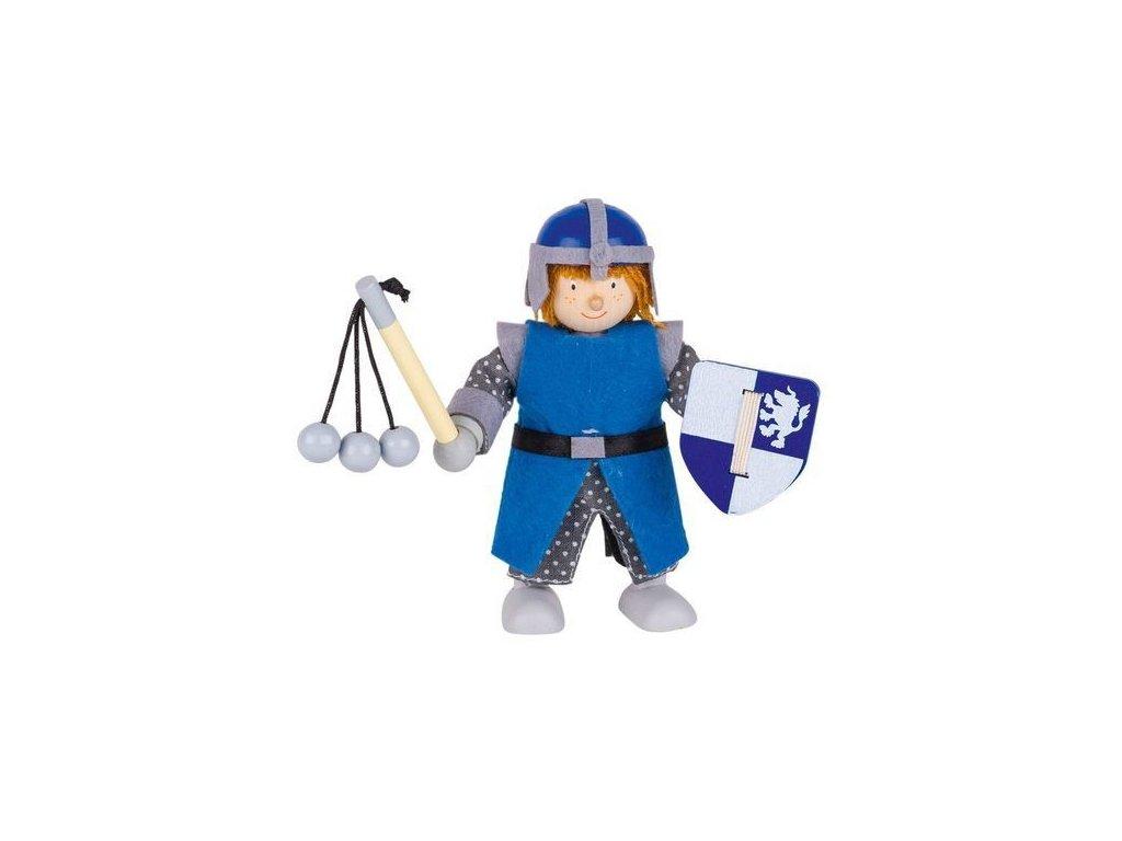 Ohebná panenka – modrý rytíř s řemdihem