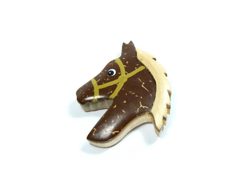 Kůň - magnetka kokosové dřevo