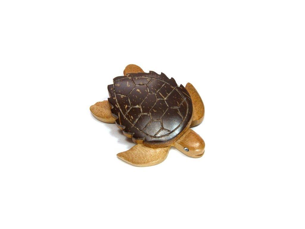 Želva - magnetka kokosové dřevo