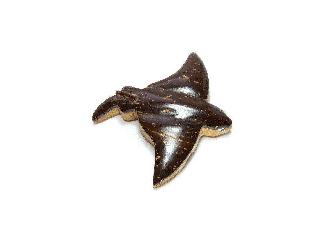 Rejnok - magnetka kokosové dřevo