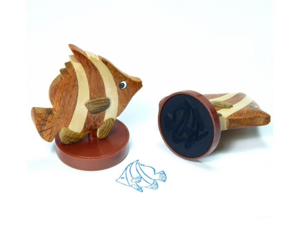 Rybka - razítko z tropického dřeva