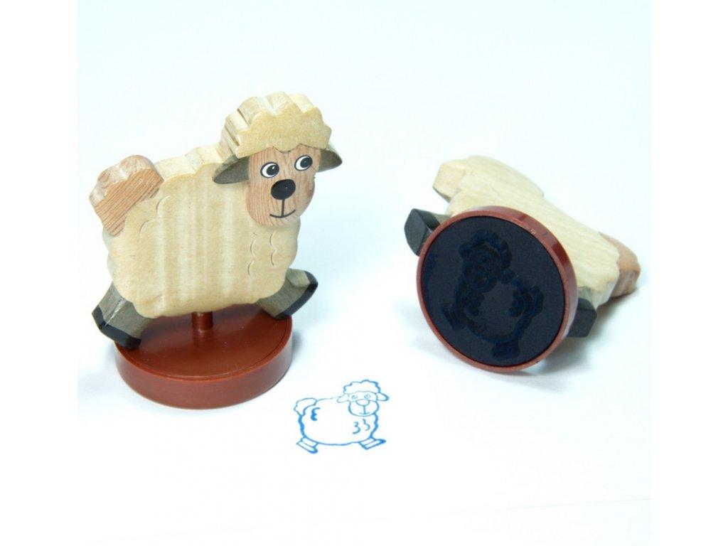 Ovečka - razítko z tropického dřeva