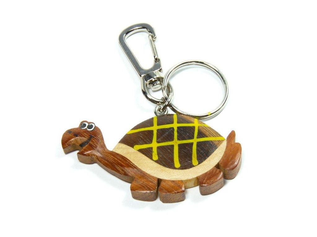 Želva - přívěsek z tropického dřeva