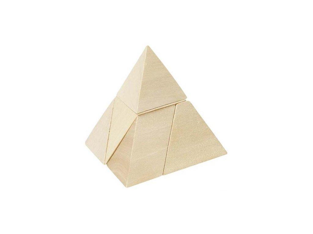 Dřevěný hlavolam – Pyramida