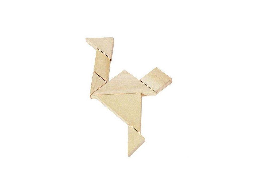 Dřevěný hlavolam – Tangram