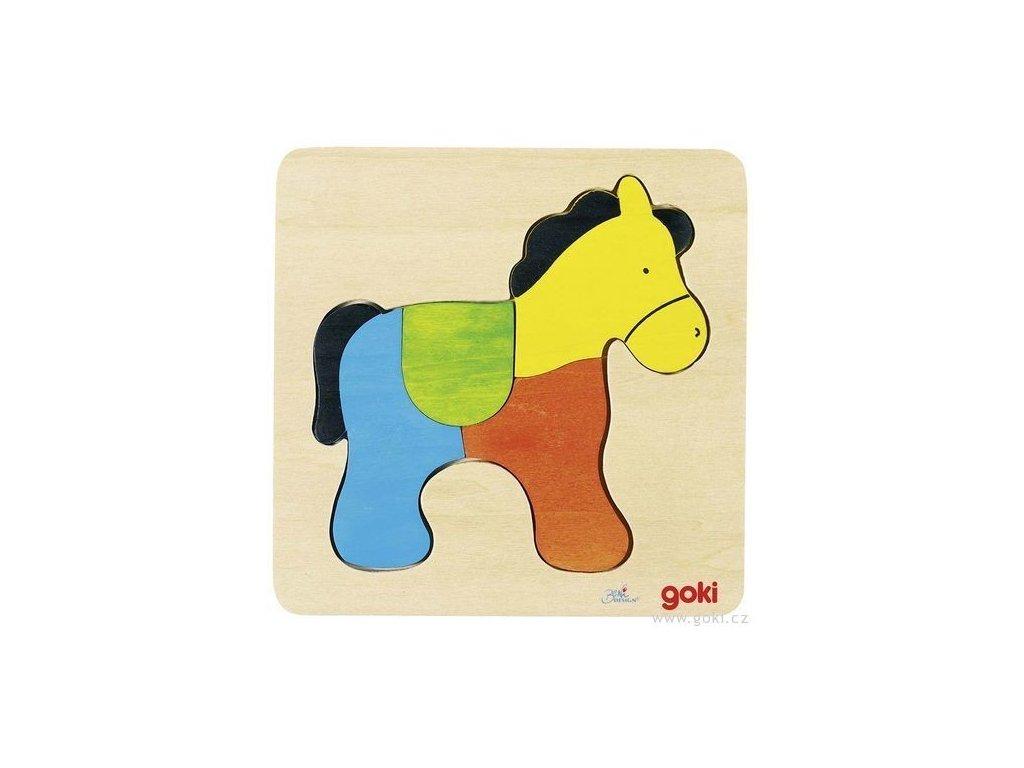 Puzzle na desce – Kůň