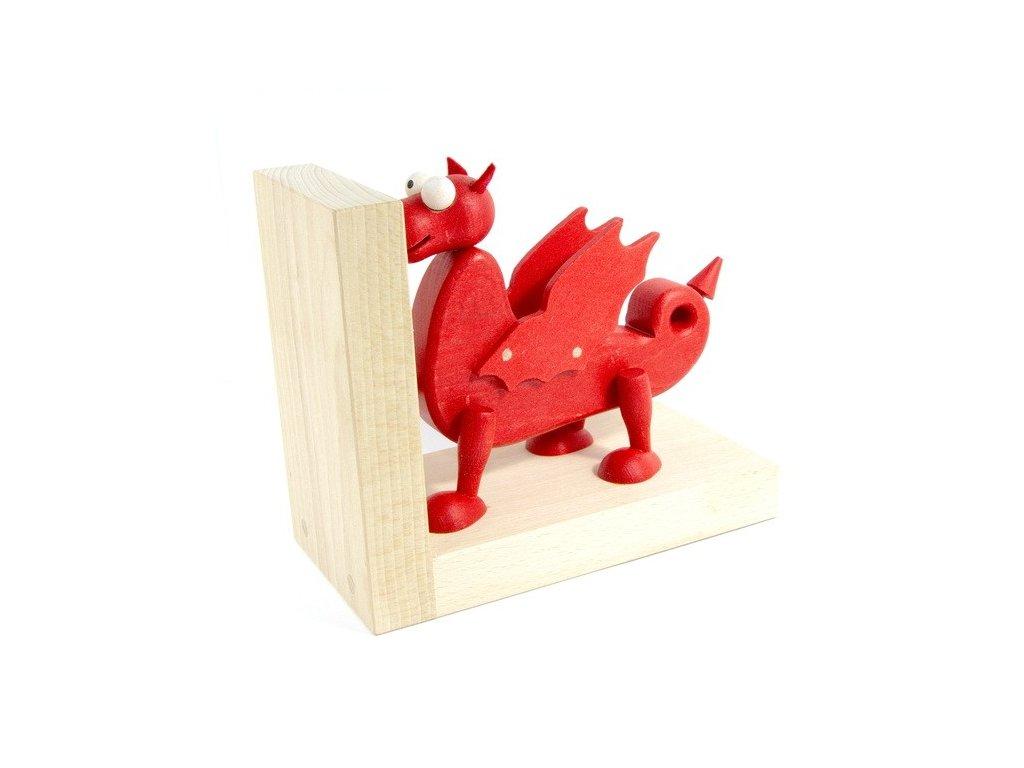Zarážka na knihy - červený drak, 1ks