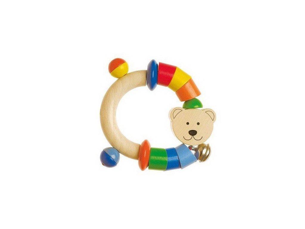 Dřevěný půlkruh do ruky Medvídek