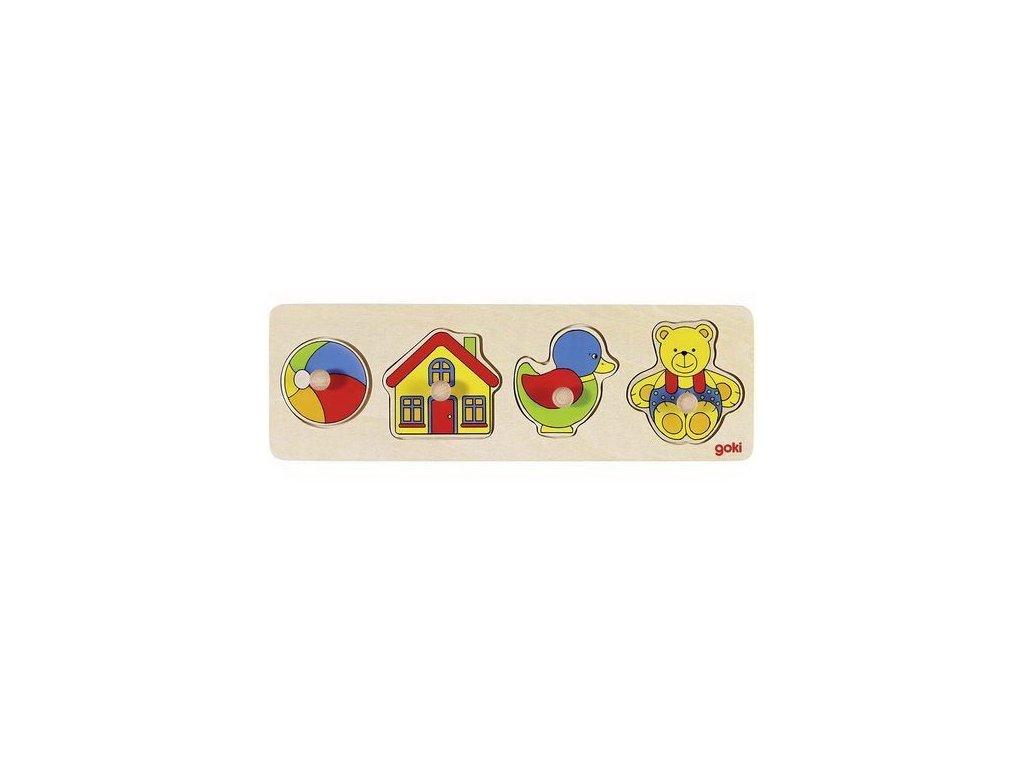 Puzzle s dřevěnými úchytkami – Hračky