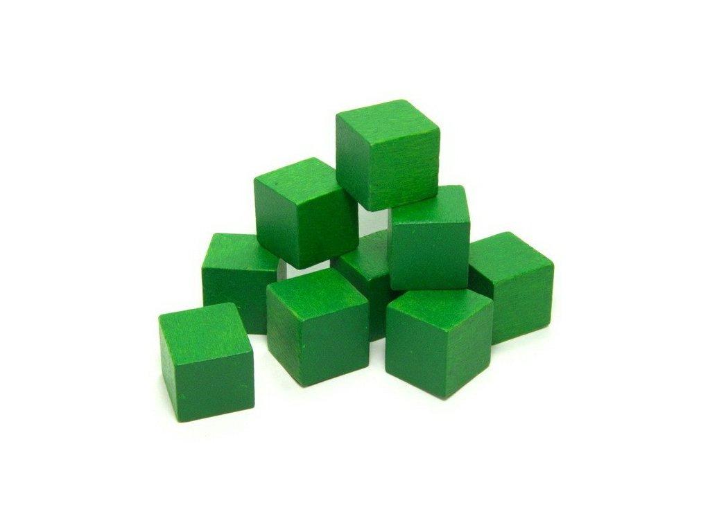 1JD - krychle zelená 2,5cm - 1ks
