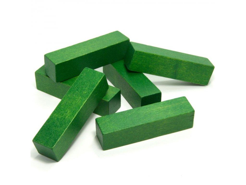 1JD - kvádr zelený 10cm - 1ks