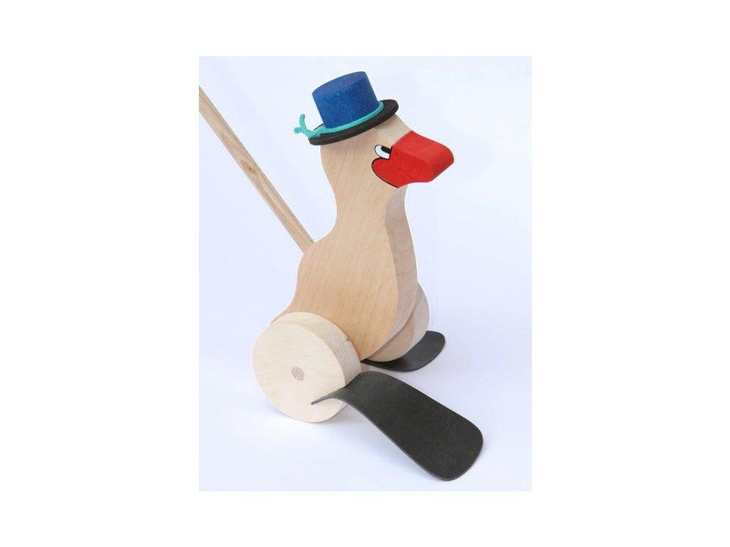 Kachna na tyči s kloboukem - plácačka